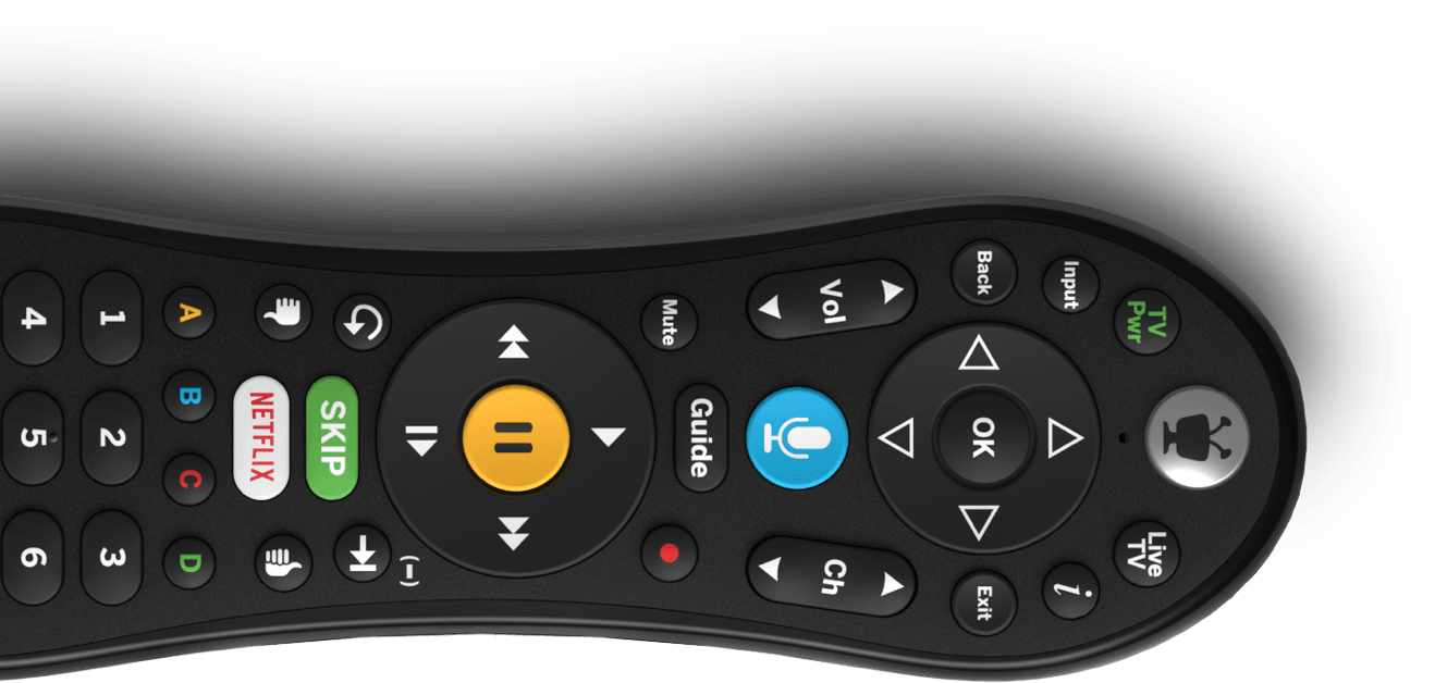 VOX remote controller with voice command, netflix, skip commercial, TiVo buttons