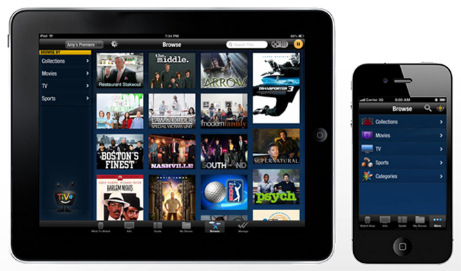 TiVo App for Tablets & Smartphones