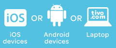 iOS devices or Android devices or Laptop