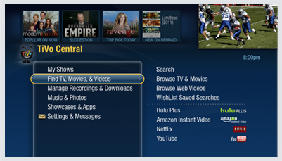 Connect your TiVo Premiere DVR to the Internet