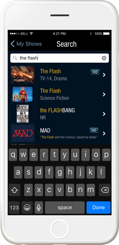 iphone display dvr unified search