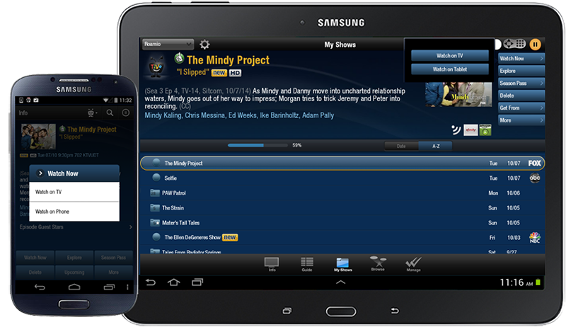 Guides|How To| Use TiVo app for Android tablets and phone