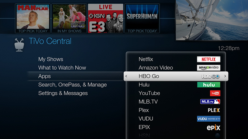 Watch hbo go tivo from the tivo central screen select apps hbo go ccuart Choice Image