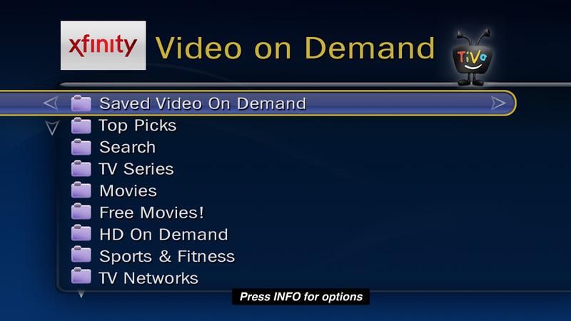 guides how to get video on demand watch xfinity on demand rh tivo com TiVo Stream Comcast TiVo Problems