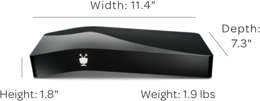 TiVo BOLT VOX black DVR dimensions