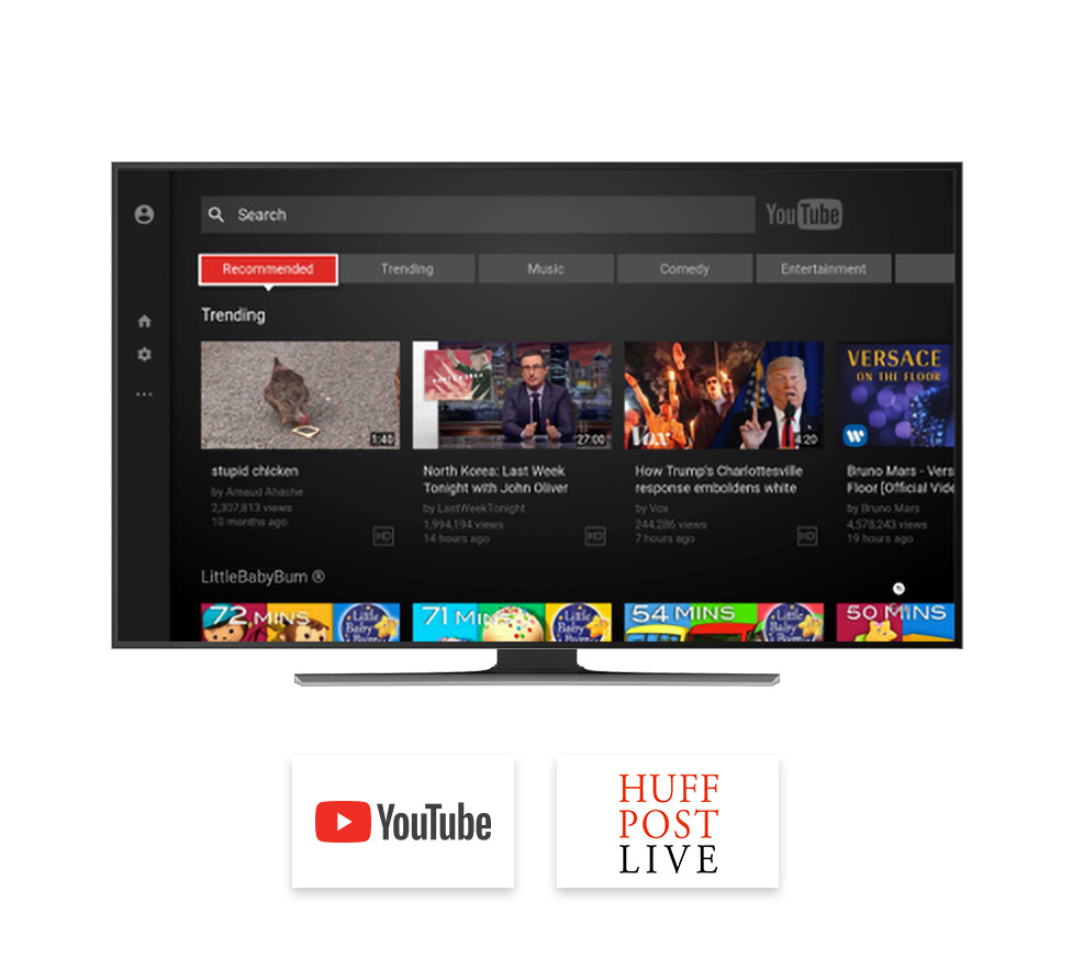 tivo apps browsing youtube